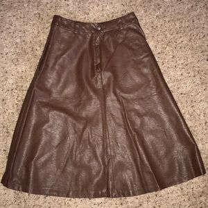 H&M faux leather skirt